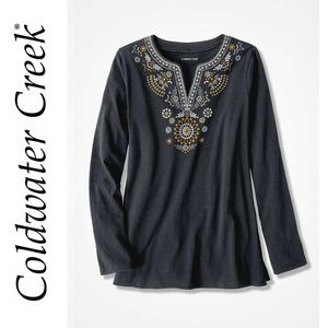 NWOT Coldwater Creek Embroidery Tunic L